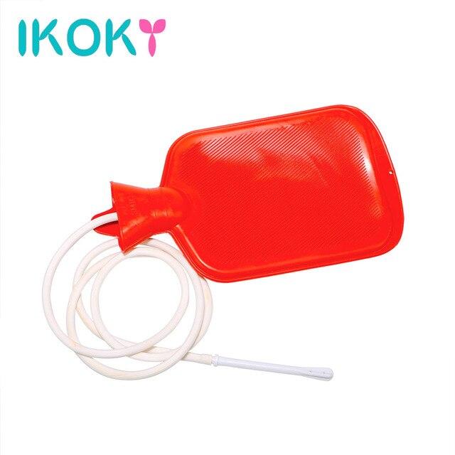 IKOKY Intestinal Anal Cleaner Shower Water Bag Enemator Vaginal Washing Large Porous Enema Anal Sex Toys for Couples Gay