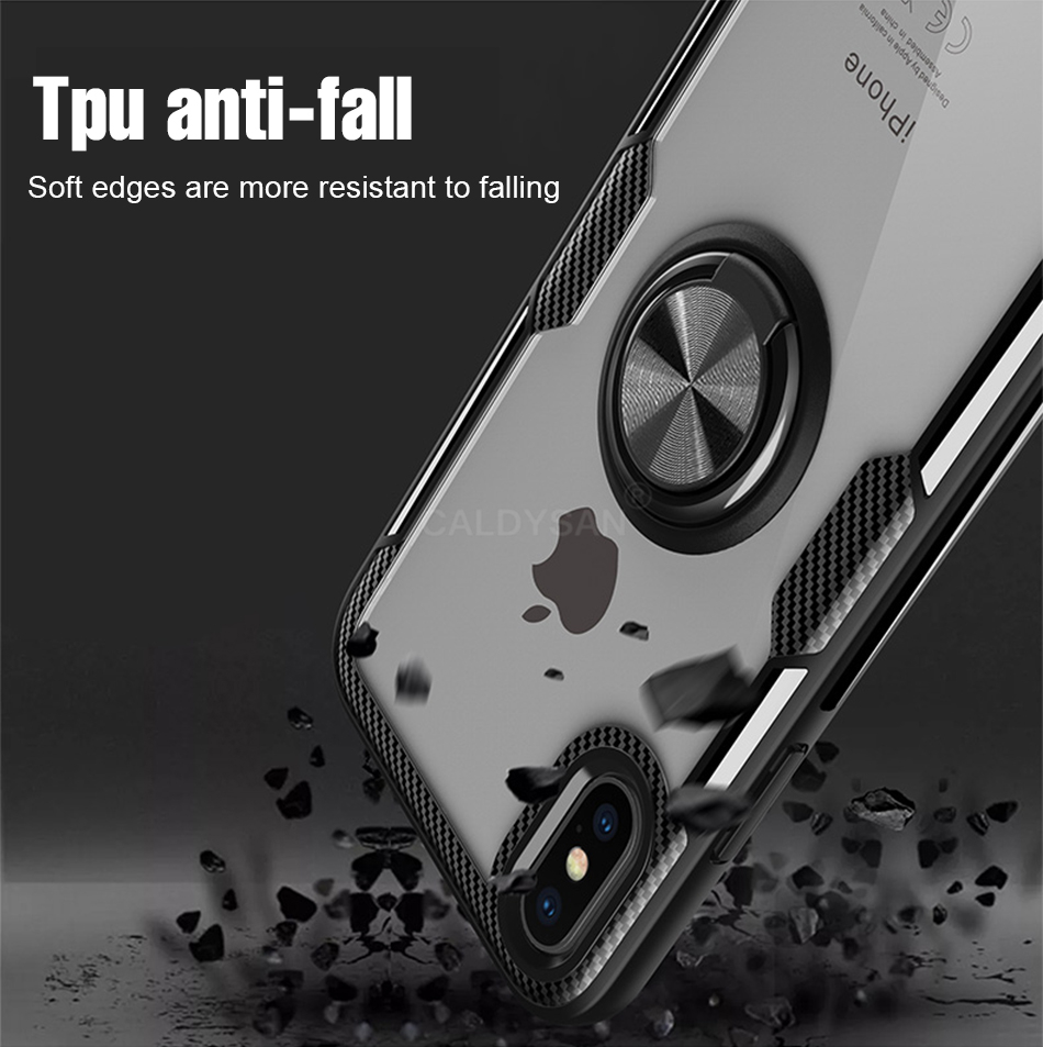 Luxury Bumper Case And Car Holder Ring Case For IPhone XS Max XR X 9