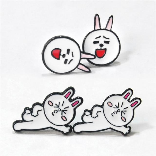 Сережки гвоздики с кроликом Сплав