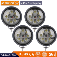цена на 40W LED Light Tractor Head Fender Work lights For JD CASE IH PAR 36 4411 Truck Heavy Equipment led agriculture lights x4pcs