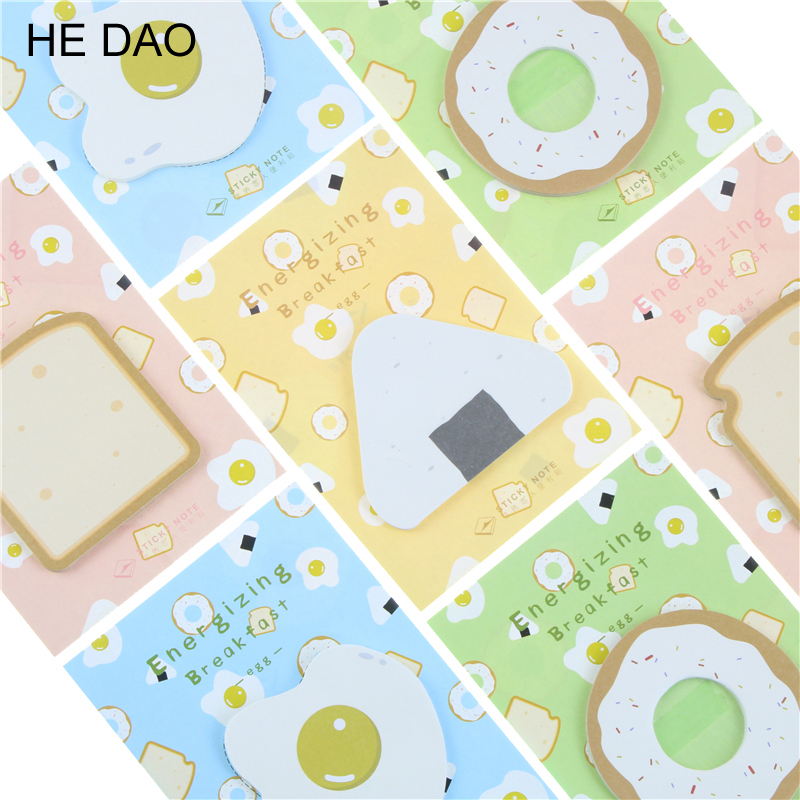 Cute Kawaii Egg Memo Pad Post It Note Creative Toast Sticky Paper For Kids Gift School Supplies Free Shipping