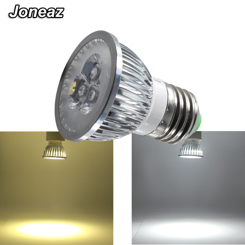 Lampadina Led 3w.Us 4 18 Joneaz 1x Lampadina Led E27 Spotlight 3w 110v 220v Dimmer Spot Light Bulb Lamp High Power Chip Home Lighting Aluminum White Lamp In Led