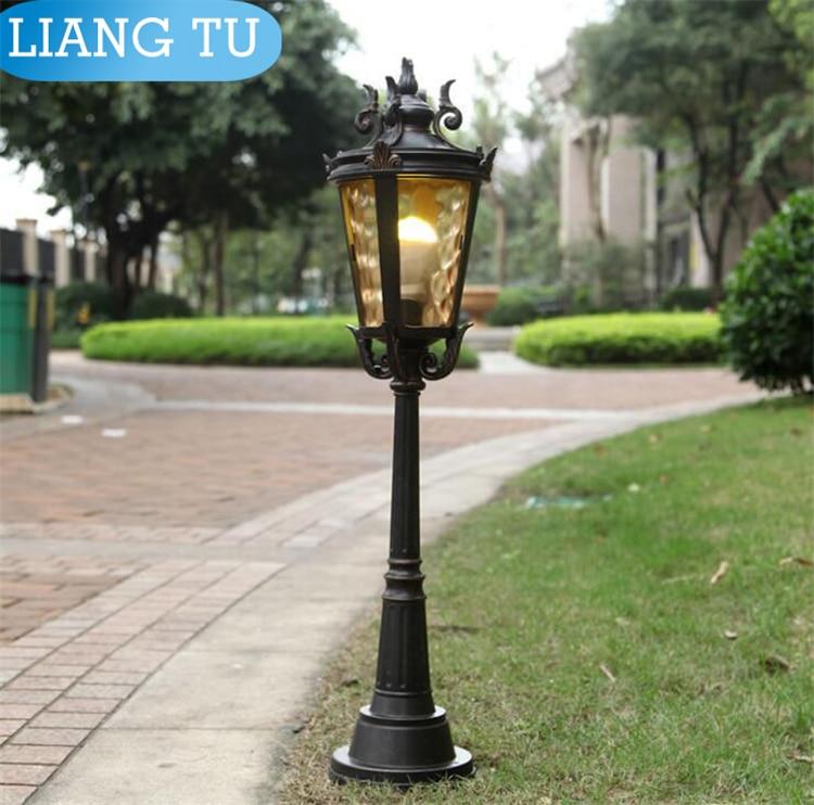 Us 79 98 Outdoor Street Lamp Lawn Light Pole Europe Garden Lighting Poles Bronze Clical Cast Aluminum In Led Lamps