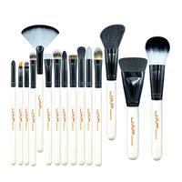 JAF 15 Pcs Set MakeUp Brush Set Nylon Wool Wooden Handle High Quality Brushes Eyes Brush