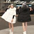 Parkas abajo de las mujeres de maternidad de maternidad de moda clothing embarazo embarazada abajo cuello de piel abrigo capa abajo abrigo prendas de vestir exteriores