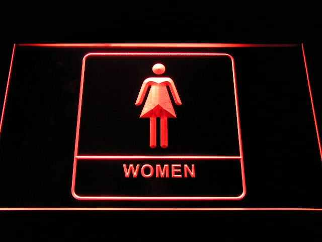 i1014 Women Female Girl Toilet Washroom Restroom Display LED Neon Light Sign On/Off Switch 20+ Colors 5 Sizes