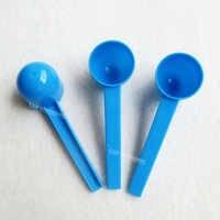 10ML HDPE Spoon 5g gram Plastic Scoop for medical milk powder Liquid - blue 200pcs/lot free shipping