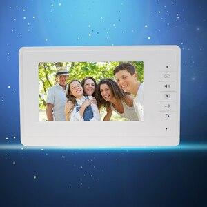 """Image 3 - 7 """"TFT LCD kolorowy ekran wideo dzwonek do drzwi domofon monitor wewnętrzny z 25 dzwonkiem do domu apartament bezpieczny V70F"""