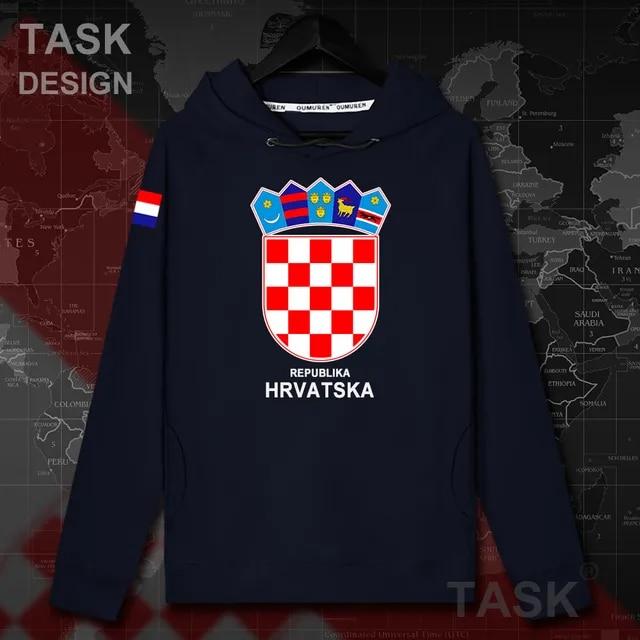 Croatia Hrvatska Croatian HRV Croats mens hoodie pullovers hoodies tops men Autumn streetwear clothing Sportswear tracksuit 20