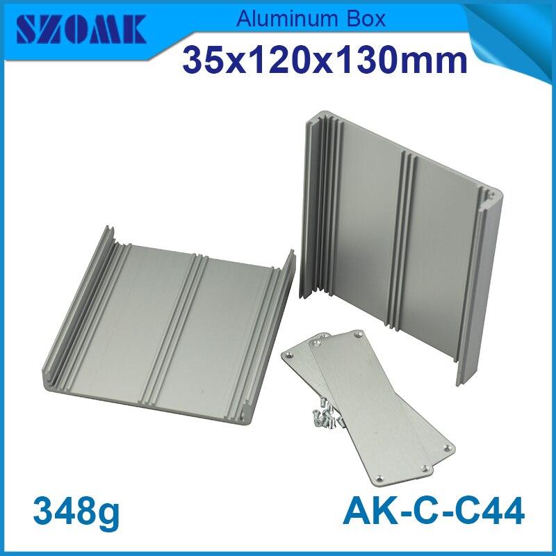 4 pieces aluminium extrusion box enclosures housing for electronics case box 35 120 130mm
