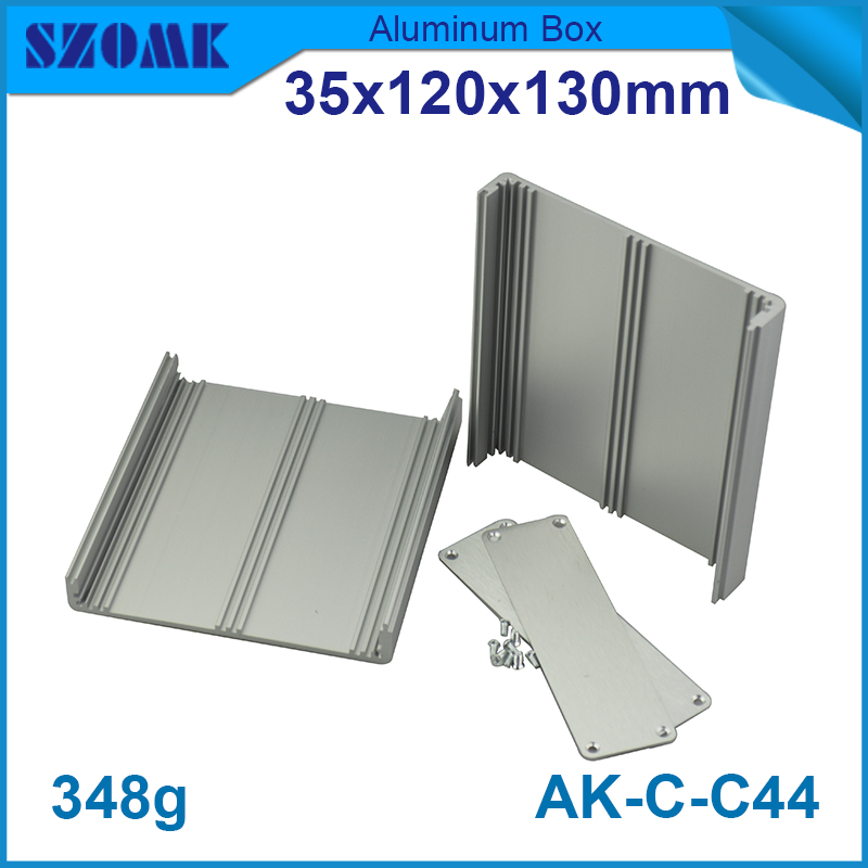 4 pieces aluminium extrusion box enclosures housing for electronics case box 35*120*130mm 1 piece free shipping small aluminium project box enclosures for electronics case housing 12 2x63mm
