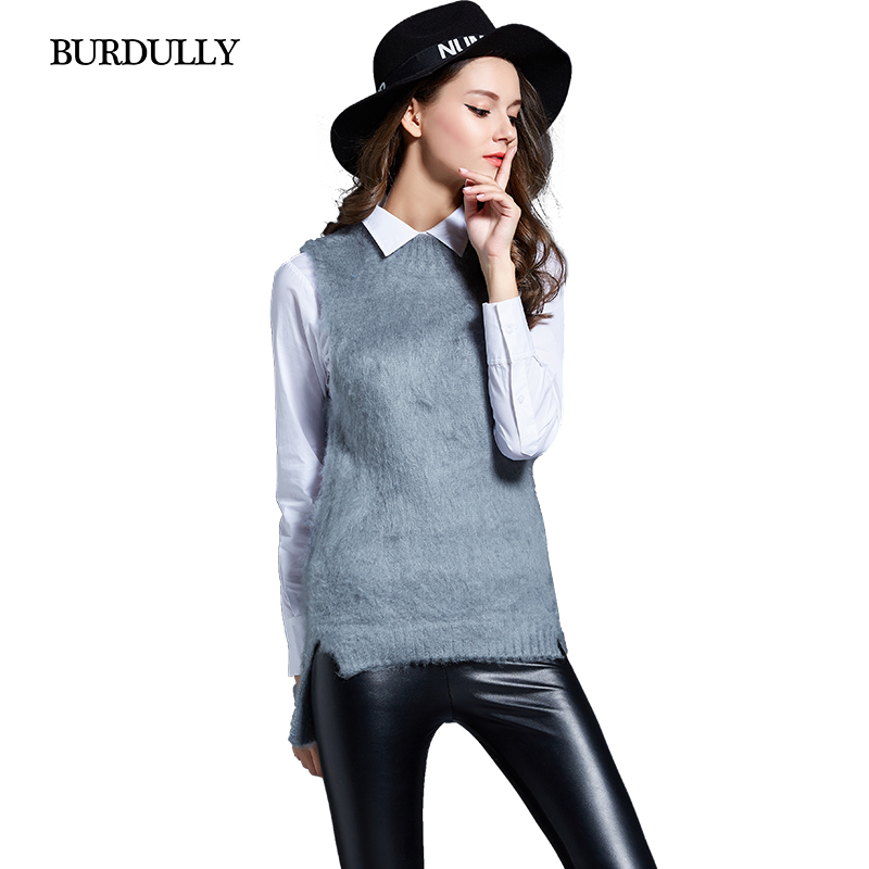 New Autumn Warm Winter 2017 Women's Sweaters Wool And Pullovers Plus Size Sleeveless Vest Japanese Women Clothes Sweater Black