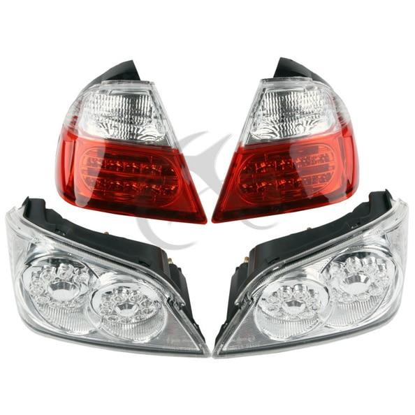 Tail Light Trunk & Lower LED Brake Turn Signals For Honda GoldWind GL1800 2006 2011