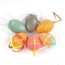 Plastic Easter Decoration 6 cm * 4 cm Colorful Eggs for decoration supplies