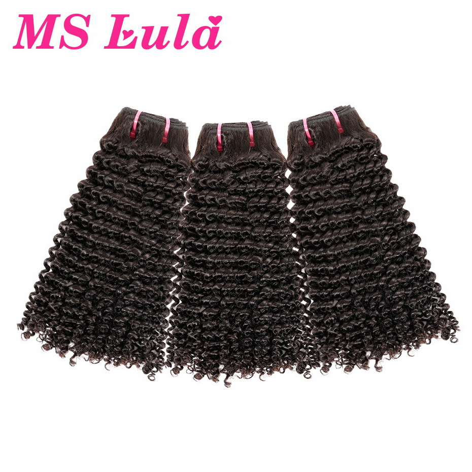 Ms Lula Brazilian Kinky Curly Human Hair Weave Bundles 3 PCS Lot 100 Remy Hair Weft