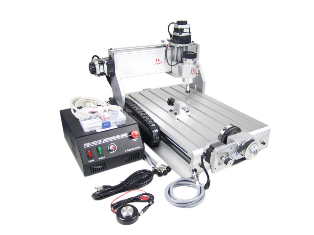 Uk Warehouse No Tax 3040z Dq 4 Axis Cnc Router With Tool Auto Checking Instrument Woodworking Engraving Machine In Wood Routers From Tools On