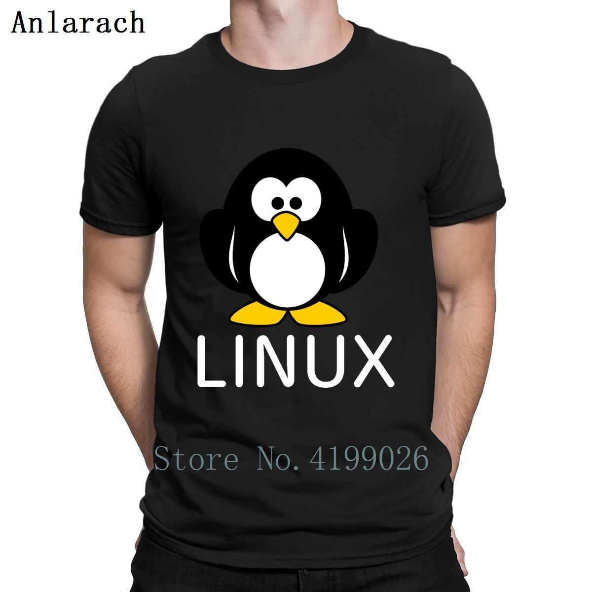 Linux pingouin t-shirt d'été Style décontracté Slogan Designer t-shirt hommes coton Fitness Normal t-shirt Pop Top t-shirt urbain