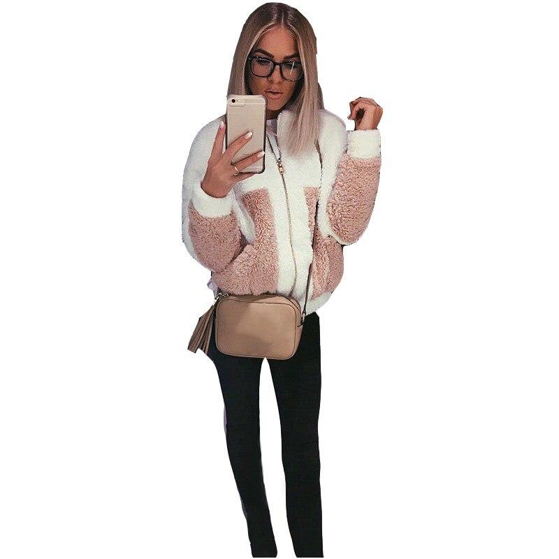 Women Winter Fleece   Jacket   Womens Thicken Warm Coat Female Windproof Polar Fleece   Basic     Jacket