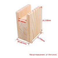 1Pcs 10x7x13.5cm Wood Table Desk Bed Riser Lift Furniture Lifter Storage for 4CM Groove Feet Up to 10CM Lift