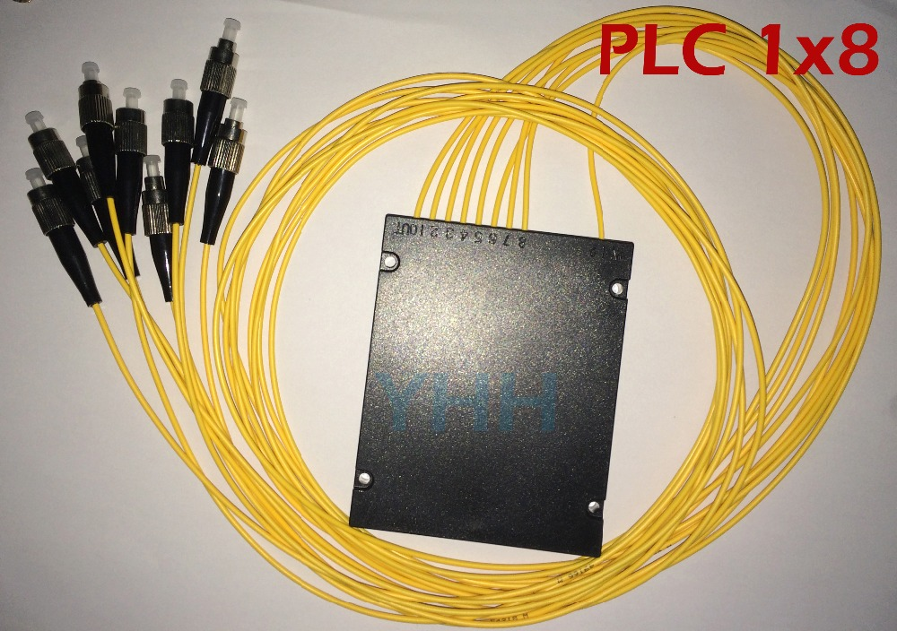 2 pcs PLC 1x8,ABS 9 port with FC/UPC and 1.0m length 2.0mm loose tube