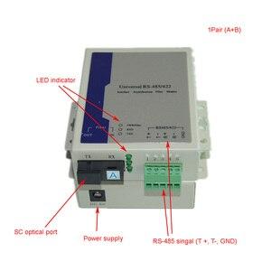 Image 3 - Высококачественный Универсальный Двунаправленный конвертер RS485 для передачи данных по оптоволокну SC однорежимный до 20 км 1 пара