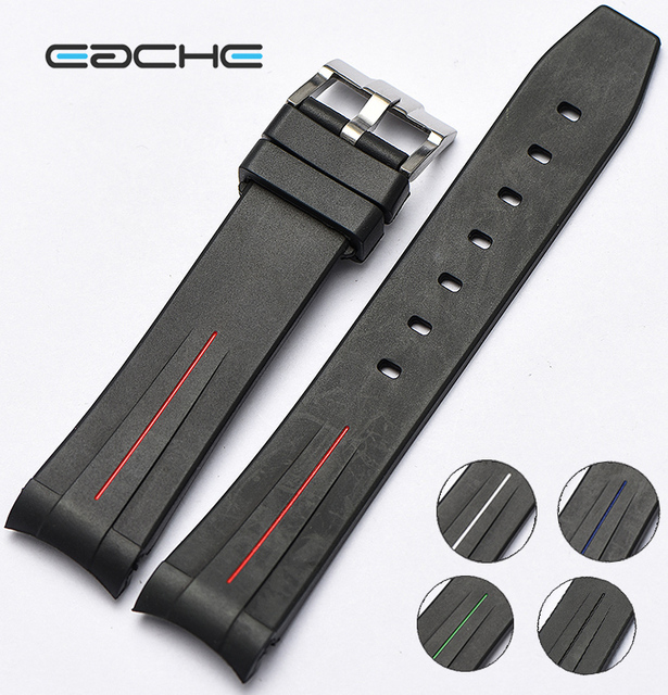EACHE High Quality Replacement Silicone Rubber Watch Band Watch Straps Waterproo