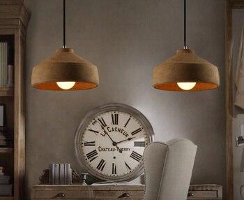 Vintage Cement Pendant Lights Hanging Lamps For Living Room Restaurant Coffee Shop Lamparas Colgantes Hall Lighting Fixtures