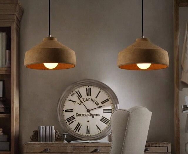Vintage Cement Pendant Lights Hanging Lamps For Living Room Restaurant  Coffee Shop Lamparas Colgantes Hall Lighting