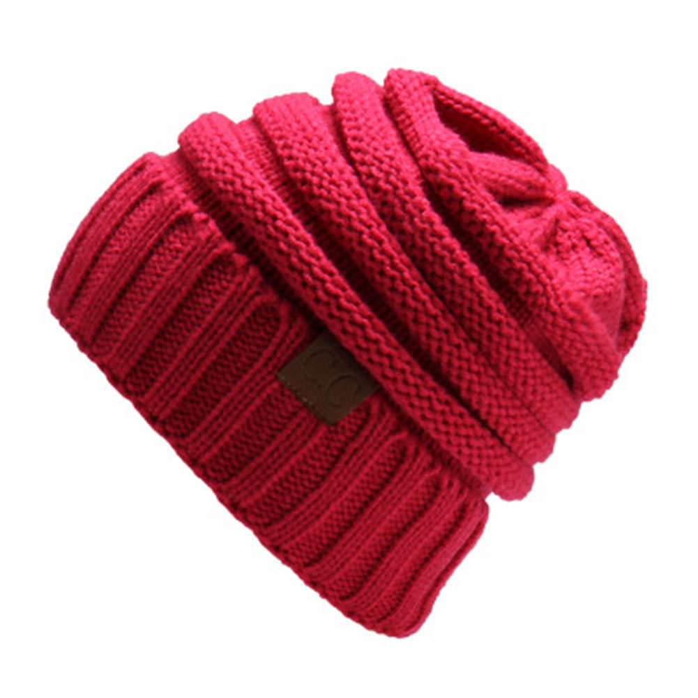 Winter Warm Skullies Casual Outdoor Ski Cap Woman Wool Knit Beanie Cap Braided Stripe Thick Hats for Women Hat skullies