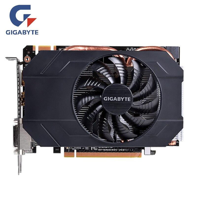 GIGABYTE Placa de Vídeo Placas Gráficas GTX 960 GB GPU Original 128Bit GDDR5 2 Mapa Para nVIDIA Geforce GTX960 2G hdmi Dvi PCI-E X16 OC