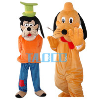 Goofy & Pluto Mascot Costume 2PCS Christmas Festival Dress Ault Size Free Shipping