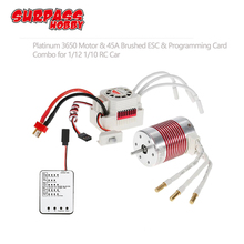 SURPASSHOBBY Platinum Waterproof Series 3650 3100KV 3500KV 2300KV Brushless Motor 45A ESC Programming Card for 1/10 RC Car Boat