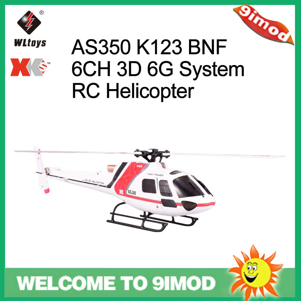 Wltoys XK AS350 K123 6CH 3D 6G Systeem Borstelloze Motor RC Helicopter Vliegtuigen Drone Compatibel Met FUTABA S-FHSS