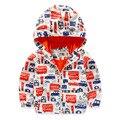 Baby Boy Chaqueta Softshell Chaquetas 2016 Nueva Marca Niños Niños Encapuchados de la Capa Activa Bomber Jacket Niños Prendas de abrigo Abrigo