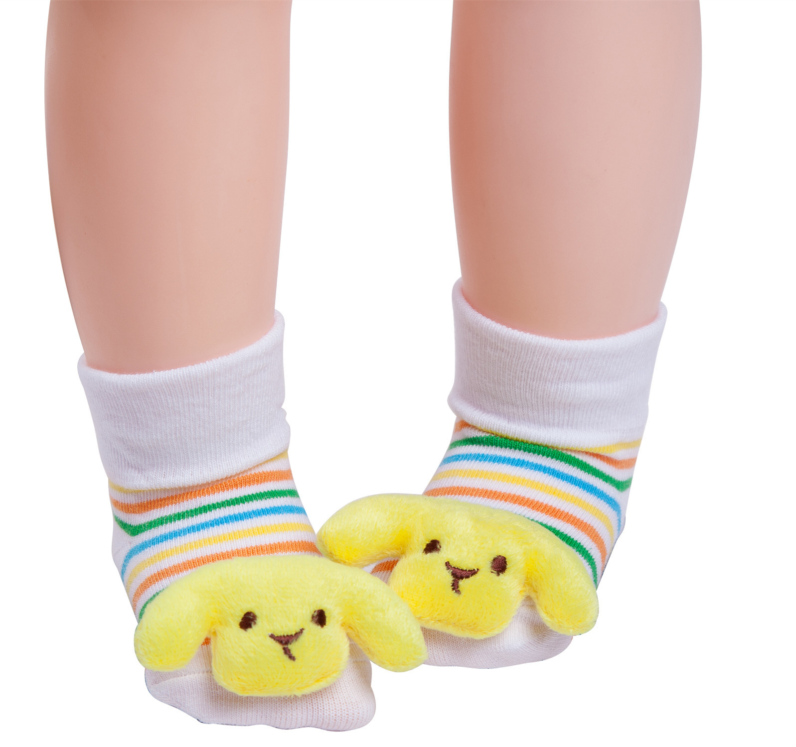 1 Pair Newborn Baby Socks with Rubber Soles Cotton Toddler Socks