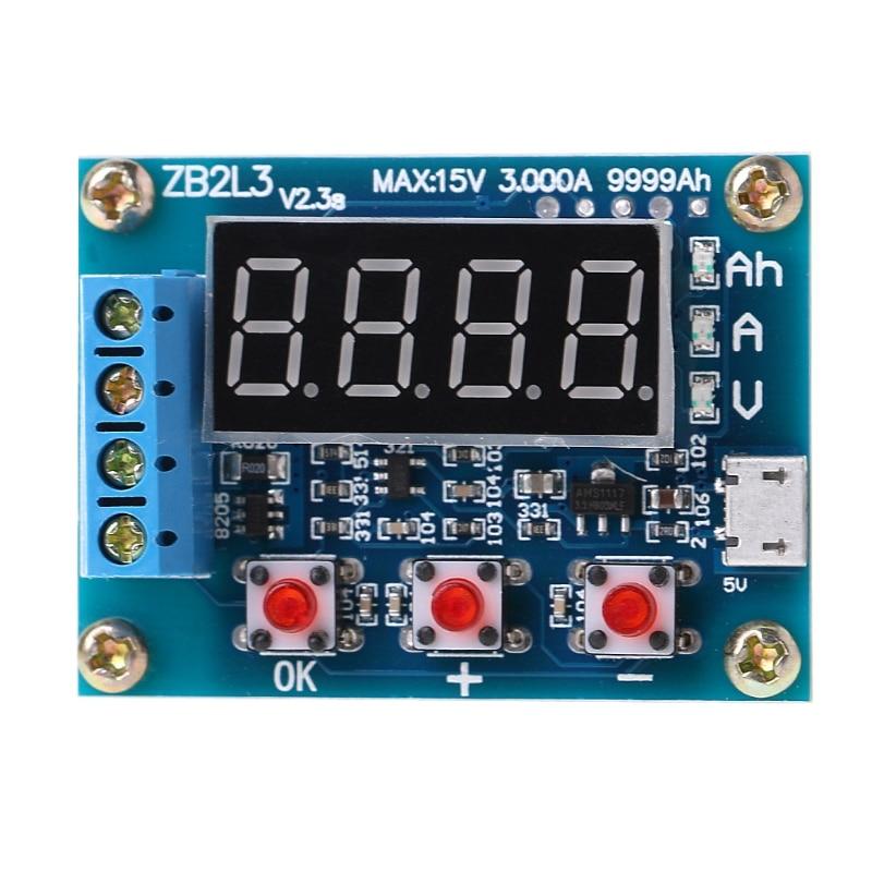 ZB2L3 Li ion Lithium Lead acid Battery Capacity Meter Discharge Tester Analyzer