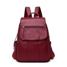 Модный женский рюкзак, женский рюкзак из натуральной кожи, овечья кожа, Женская дорожная сумка через плечо, Sac A Dos Femme