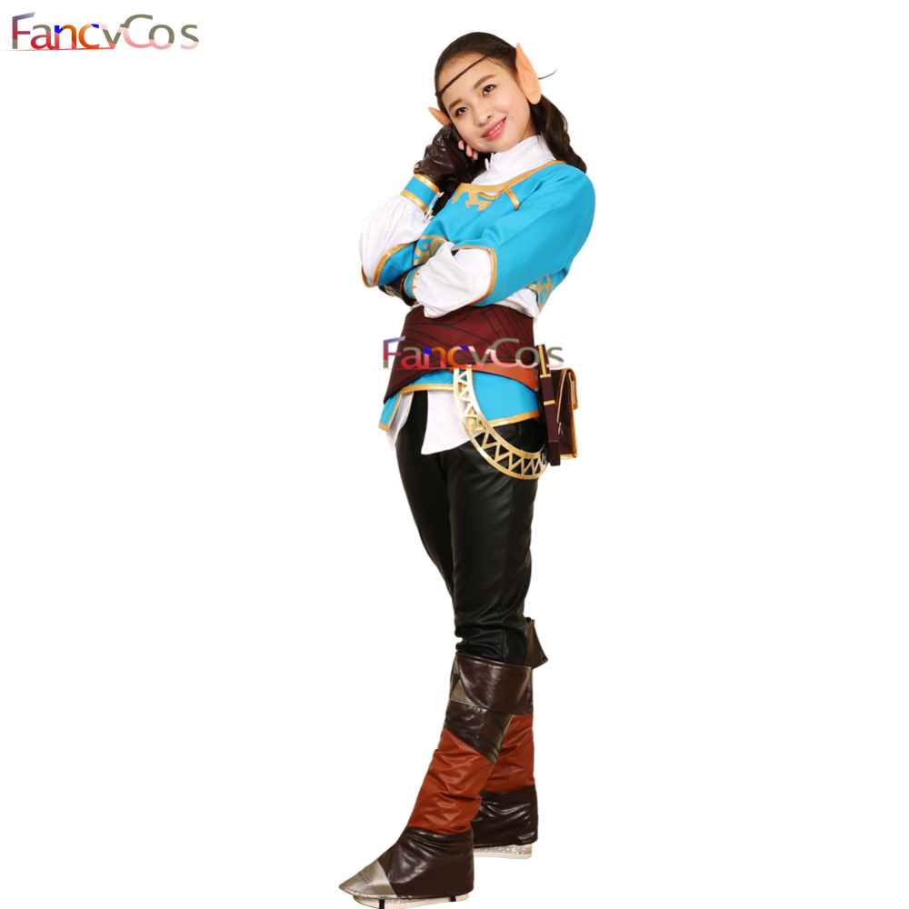 Halloween Girl The Legend of Zelda Breath of the Wild Princess Zelda Costume Cosplay Outfit Game Anime Japanese