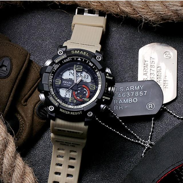 la mejor actitud 86d7f 1b3fb € 11.3 50% de DESCUENTO|SMAEL 10 colores de doble pantalla Nuevo reloj  Digital resistente al agua para hombre, relojes deportivos al aire libre,  reloj ...