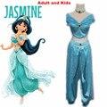 Aladdin Принцесса Жасмин косплей костюм Для Взрослых Хэллоуин Костюмы для женщин партия сексуальная Жасмин dress
