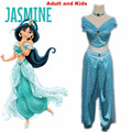 Aladdin  Princess Jasmine cosplay costume Adult Halloween Costumes for women party sexy Jasmine dress