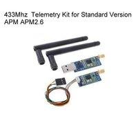 Open Source 3DRobotics 3DR Radio 433Mhz 433 Telemetry Kit For Standard Version APM APM2 6 Pixhawk