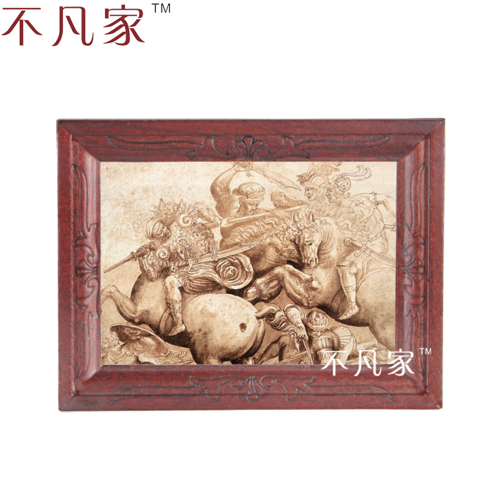 Dollhouse Wholesale 1:12 scale miniature classical ancient warriors oil painting E-12