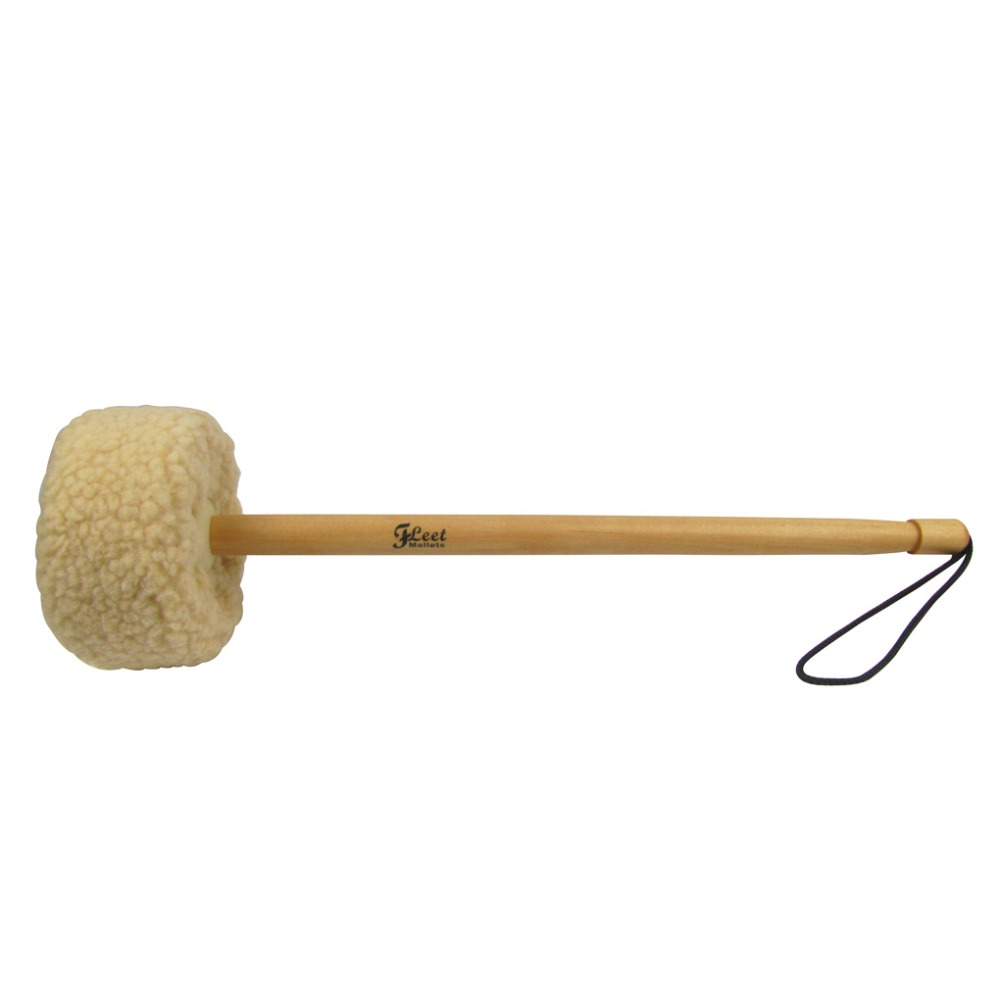 new 1pcs gong hammer gong mallet drum stick big wood core with wool head in parts accessories. Black Bedroom Furniture Sets. Home Design Ideas