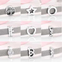 100% High quality 925 Sterling Silver Beautiful clips Beads Fit Original Reflections Charm Bracelet women Jewelry making