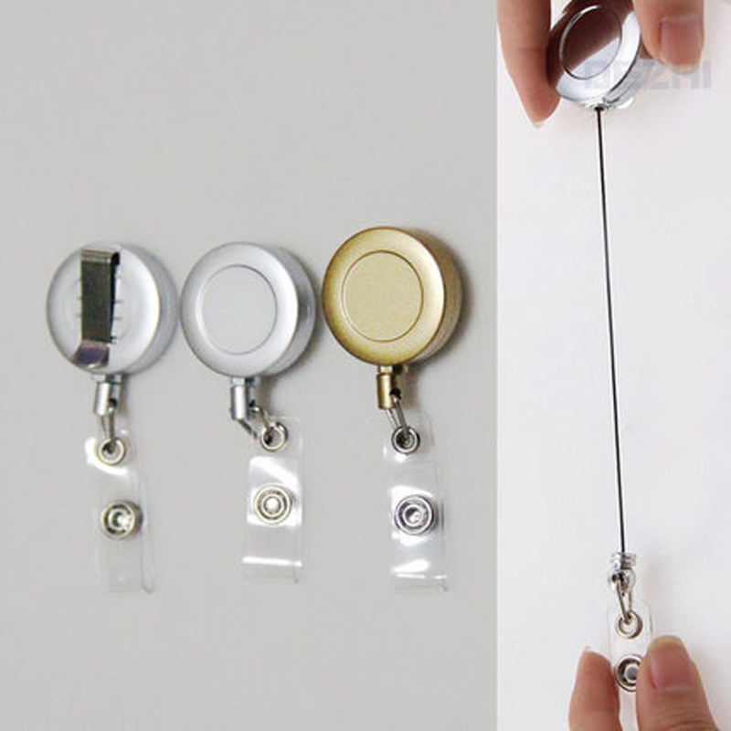 DEZHI Metal Badge Reel For Access Card, Retractable Chain For Work Card, Testificate ID IC Card Holder Reel