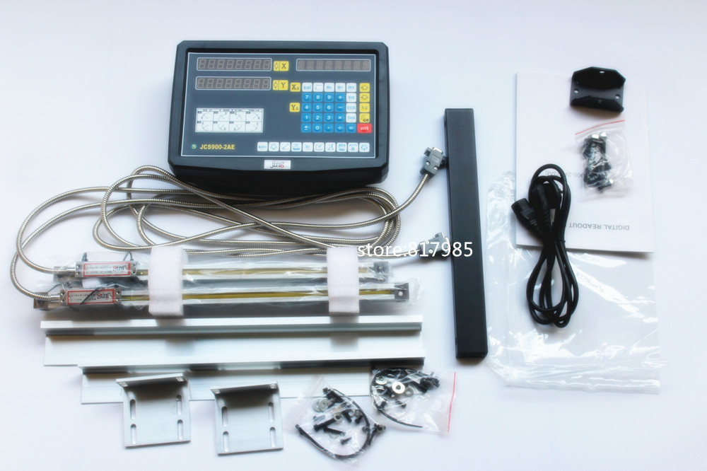 9X36 42 49 2 Axis digital readout with high precision linear scale linear encoder linear ruler