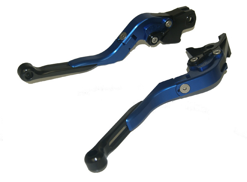 Motorcycle Brake Clutch Levers Adjustable Folding Extendable Black+Blue For BMW K1300 S/R/GT K1600 GT/GTL K1200 R/S R1200GS adjustable folding extendable brake clutch levers for bmw k1300 s r gt k1600 gt gtl k1200r sport r1200gs adventure 8 colors