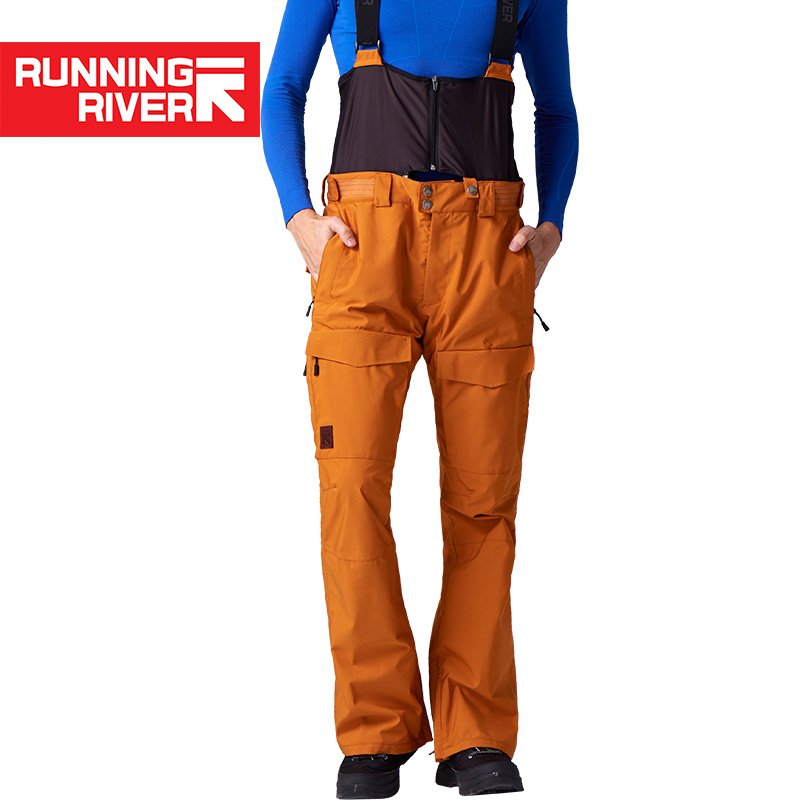 RUNNING RIVER Brand Winter Men Ski Pants Size S - 2XL Waterproof Windproof Warm Snow Man Outdoor Sports Pants #O7508N