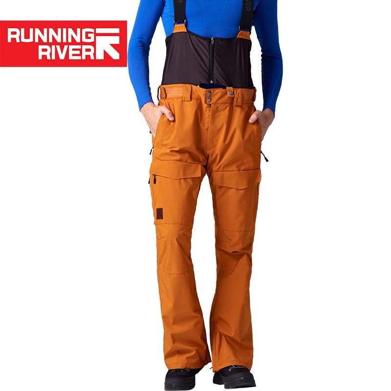 RUNNING RIVER Brand Winter Men Ski Pants Size S - 2XL Waterproof Windproof Warm Snow Man Outdoor Sports Pants #O7508N